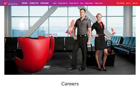 Screenshot of Jobs Page virginamerica.com - Airline Jobs & Careers   Virgin America - captured Dec. 31, 2016