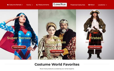 Screenshot of Locations Page costumeworld.com - Costume World Rentals – Where America Rents Costumes - captured Sept. 29, 2018