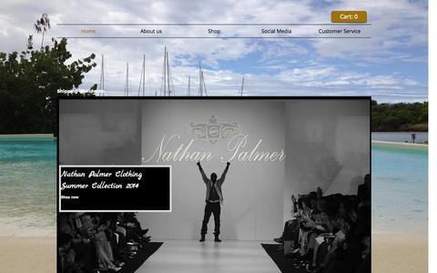 Screenshot of Home Page nathanpalmer.co.uk - Nathan Palmer Clothing - captured Oct. 6, 2014