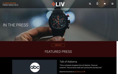 Screenshot of Press Page livwatches.com - Press | LIV - captured Dec. 6, 2015