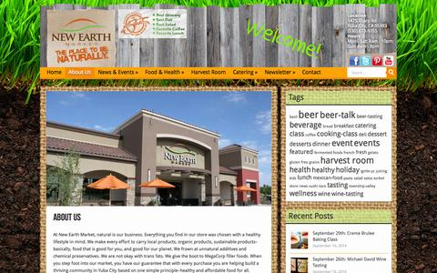 Screenshot of About Page newearthmarket.com - About Us | New Earth Market - captured Oct. 1, 2014