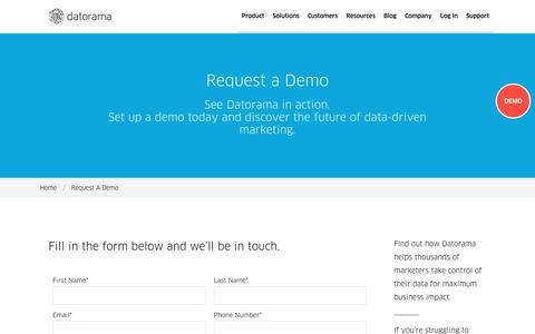 Request a Demo - Datorama