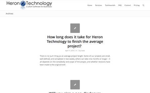 FAQ | Heron Technology