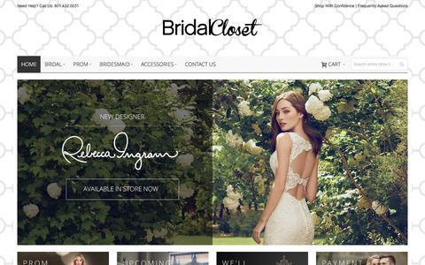 Bridal Closet - Utah Bridal and Prom Store in Salt Lake / Draper / Sandy   Utah Wedding Dresses   Salt Lake City Wedding Dresses