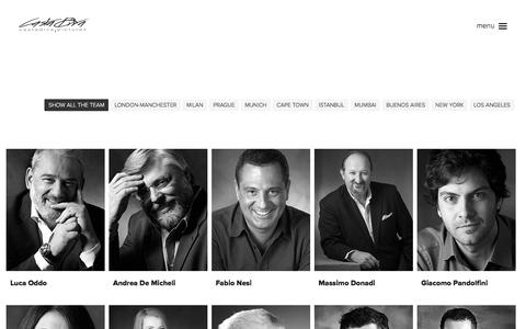 Screenshot of Team Page castadivapictures.com - Casta Diva Pictures | People - captured Jan. 26, 2016