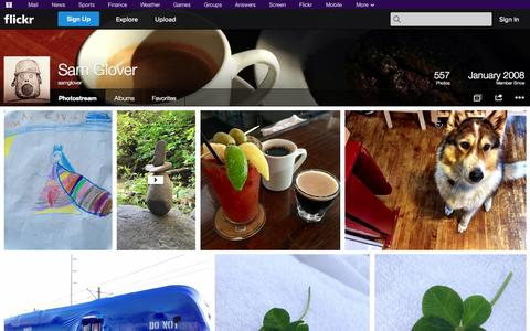 Screenshot of Flickr Page flickr.com - Flickr: samglover's Photostream - captured Oct. 22, 2014