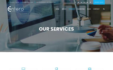 Screenshot of Services Page entero.co.in - Services - Entero - captured Oct. 13, 2017