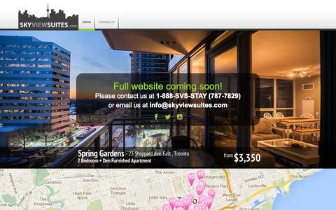 Screenshot of Home Page skyviewsuites.com - SkyViewSuites - captured Oct. 9, 2014