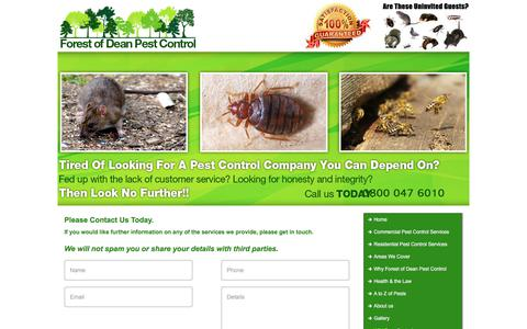 Screenshot of Contact Page forestofdeanpestcontrol.co.uk - Contact - captured June 6, 2017