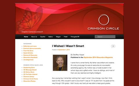 Screenshot of Blog crimsoncircle.com - Crimson Circle News | Inspiring Consciousness Around the World - captured Sept. 23, 2014