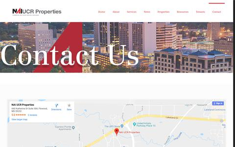Screenshot of Contact Page ucrproperties.com - Contact - NAI UCR PropertiesNAI UCR Properties - captured Dec. 17, 2018