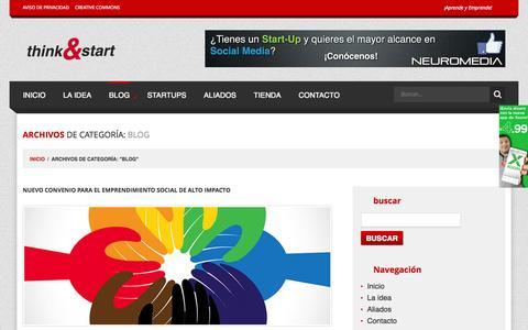 Screenshot of Blog thinkandstart.com - Blog Archives - Think&Start - captured Sept. 25, 2014