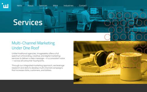 Screenshot of Services Page iwmarketing.com - Twin Cities Branding, Creative & Digital Marketing Services | Imagewërks Marketing - captured Oct. 14, 2017