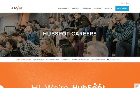 Screenshot of Jobs Page hubspot.com - HubSpot Careers - captured March 28, 2016