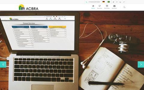 Screenshot of Home Page acibra.de - ACIBRA - Berlin - captured Sept. 30, 2014