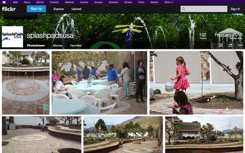 Screenshot of Flickr Page flickr.com - Flickr: splashpadsusa's Photostream - captured Oct. 25, 2014