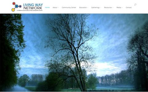 Screenshot of Home Page lwfsc.org - Living Way Network | a missional community of the Foursquare Church - captured Oct. 4, 2014
