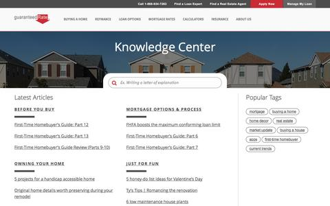 Knowledge Center | Guaranteed Rate