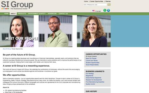 Screenshot of Jobs Page siigroup.com - SI Group - SI Group Careers - captured Sept. 22, 2018