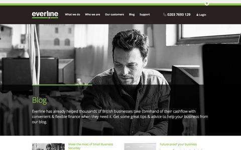 Screenshot of Blog everline.com - Blog | Everline - captured Dec. 12, 2015