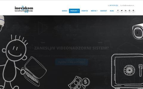 Screenshot of Home Page inovakom.si - inovakom - inovativne komunikacije - captured Oct. 16, 2017