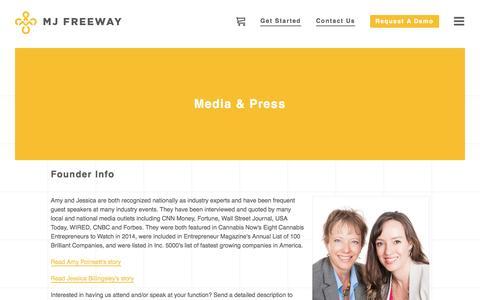 Screenshot of Press Page mjfreeway.com - Media & Press   MJ Freeway - captured Nov. 29, 2016