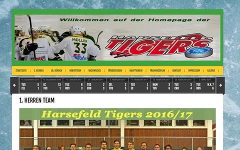 Screenshot of Team Page harsefeldtigers.de - 1. Herren Team – TuS Harsefeld Tigers - captured April 1, 2017