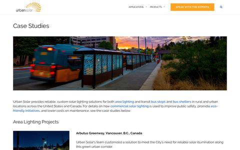 Screenshot of Case Studies Page urbansolarcorp.com - Case Studies - Urban Solar - captured Oct. 31, 2019