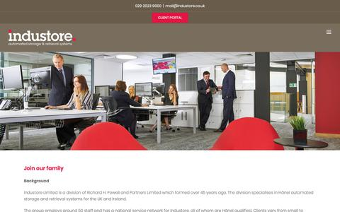 Screenshot of Jobs Page industore.co.uk - Join the Industore family and develop your career. Apply now! - captured Nov. 6, 2018