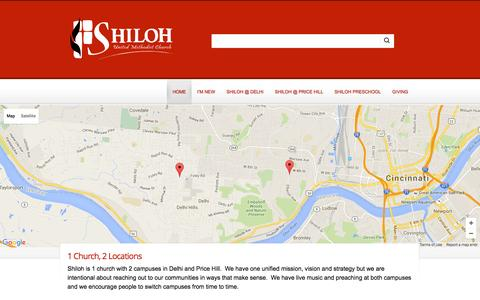 Screenshot of Contact Page shilohumc.com - Contact Us - Shiloh UMC - captured Feb. 14, 2016