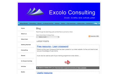 Screenshot of Blog excolo.co.uk - Excolo Blog - captured Oct. 3, 2014