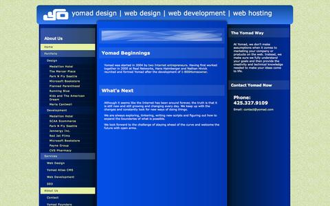 Screenshot of About Page yomad.com - About Yomad Design and Development - captured Oct. 7, 2014