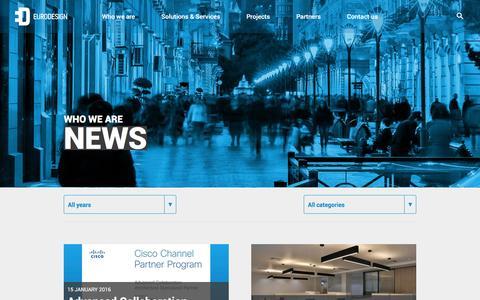 Screenshot of Press Page eurodesign.az - News - captured Jan. 30, 2016