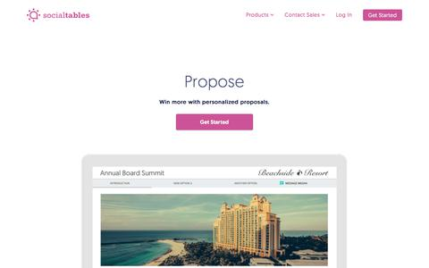 Proposal Software for Properties | Social Tables Propose