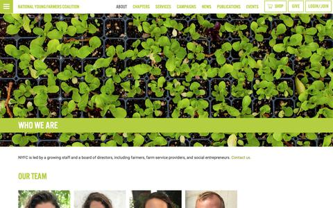 Screenshot of Team Page youngfarmers.org - National Young Farmers Coalition   Who We Are - captured Oct. 25, 2018