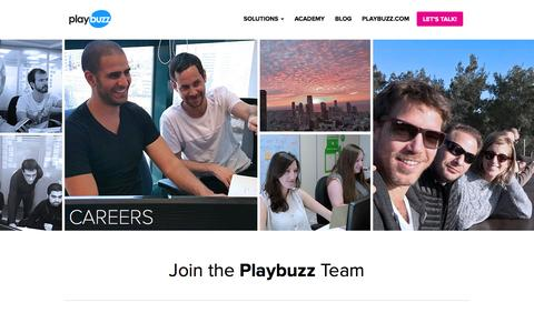 Screenshot of Jobs Page playbuzz.com - Careers at Playbuzz - captured July 14, 2016