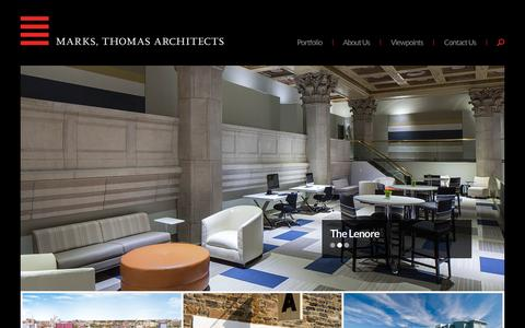 Screenshot of Home Page marks-thomas.com - Baltimore Architecture Firm   Marks, Thomas Architects - captured Oct. 25, 2015