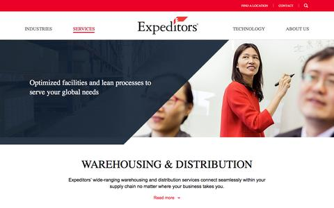 Warehousing & Distribution | Expeditors International of Washington