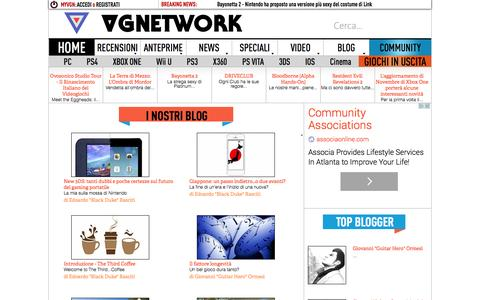 Screenshot of Blog vgnetwork.it - L'angolo dei Blog | VGNetwork.it - captured Oct. 26, 2014
