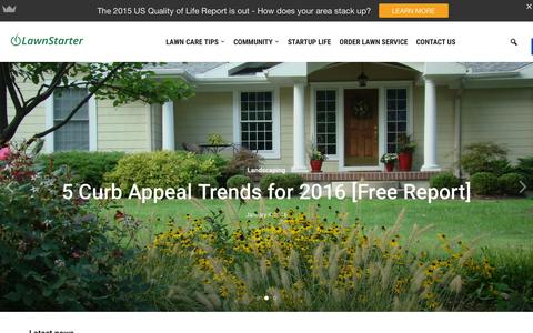 Screenshot of Blog lawnstarter.com - Lawnstarter - All things lawn care as well as the happenings in Austin, Orlando and the DC area. - captured Jan. 4, 2016