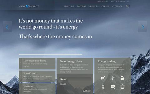 Screenshot of Home Page neasenergy.com - Commodity trading and energy trading with Neas Energy - captured Oct. 7, 2014