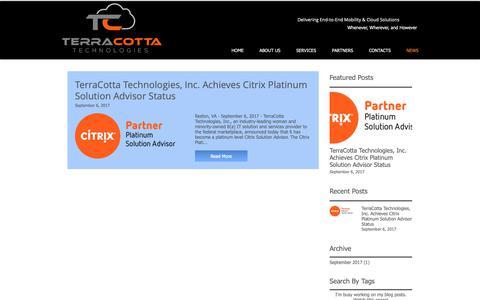 Screenshot of Press Page 4terracotta.com - TerraCotta  | NEWS - captured Oct. 20, 2018