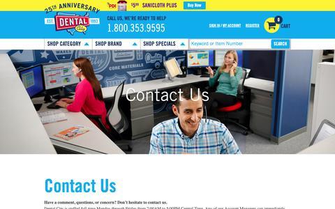 Screenshot of Contact Page dentalcity.com - Contact us - captured Nov. 6, 2018