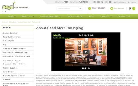 Screenshot of About Page goodstartpackaging.com - About Good Start Packaging - captured July 21, 2018