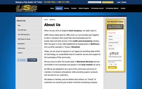 Screenshot of About Page usbne.com - About Us - captured Oct. 6, 2014