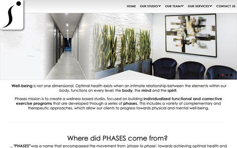 Screenshot of Home Page phasesexecfit.com - PHASES EXECUTIVE FITNESS STUDIO - Personal Training Studio - Registered Massage Therapy - Naturopathic Medicine - Osteopathy - Physiotherapy - Toronto - North York - VICommunity - captured Sept. 28, 2018