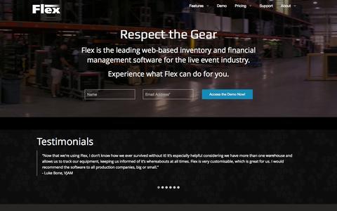 Screenshot of Home Page Menu Page flexrentalsolutions.com - Flex Rental Solutions - captured Sept. 30, 2014