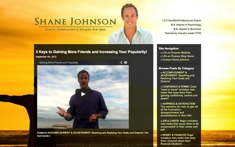 Screenshot of Blog lifeonpurposecoaching.net - Life on Purpose Blog | Life Coaching - Victoria, BC - captured Oct. 2, 2014