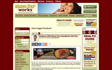 Screenshot of Products Page glutenfreeworks.com - Products «  Gluten Free Works - captured Jan. 31, 2016