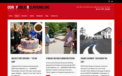 Screenshot of Case Studies Page ddrpr.com - Case Studies & Integrated Marketing Campaigns - captured Aug. 5, 2018